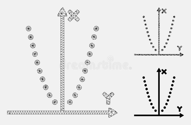 Parabole剧情传染媒介滤网第2个模型和三角马赛克象 皇族释放例证