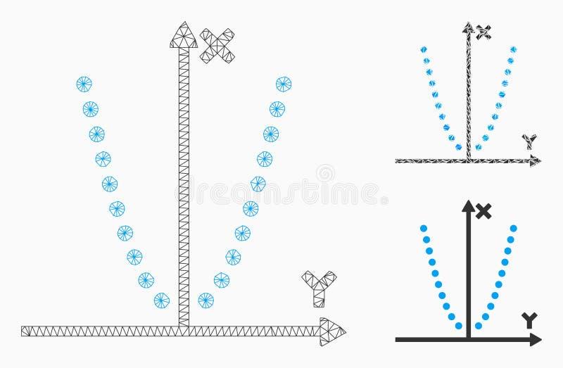 Parabole剧情传染媒介网状网络模型和三角马赛克象 向量例证