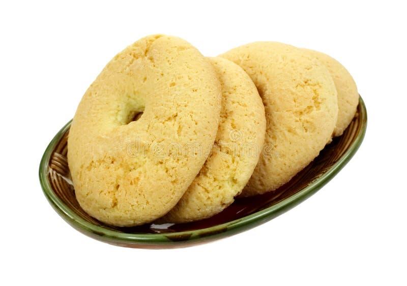 Paraboloïde cuit au four croustillant de biscuits de casse-croûte photographie stock