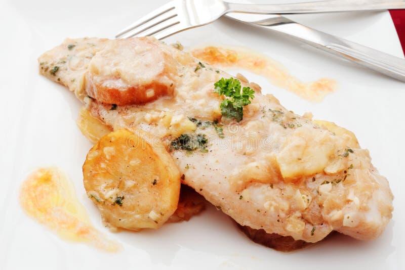 Paraboloïde cuit par merluches photo libre de droits