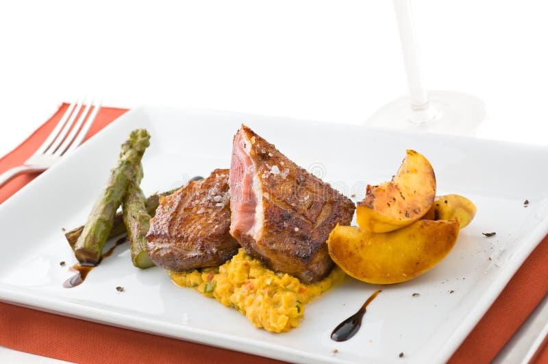 Paraboloïde gastronome avec de la viande. images stock