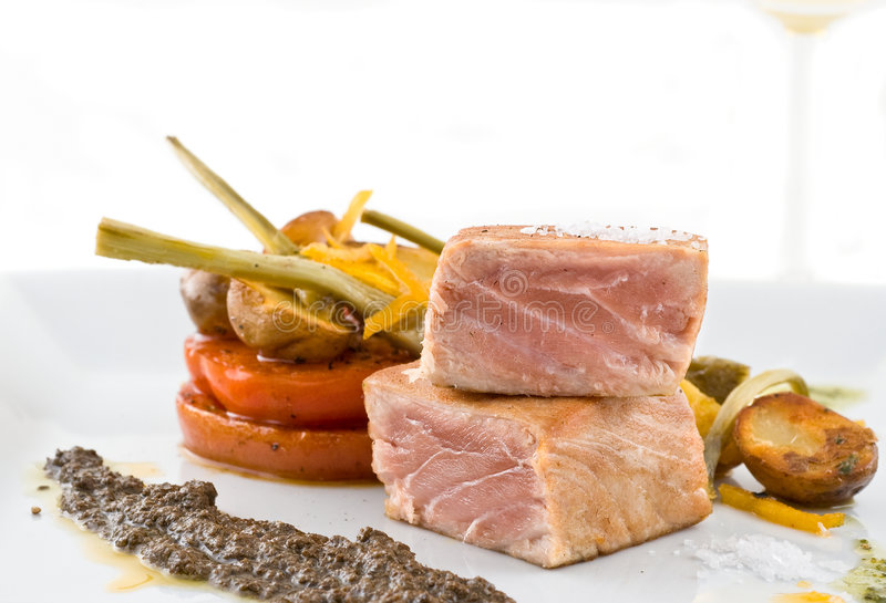 Paraboloïde gastronome de thon. image stock