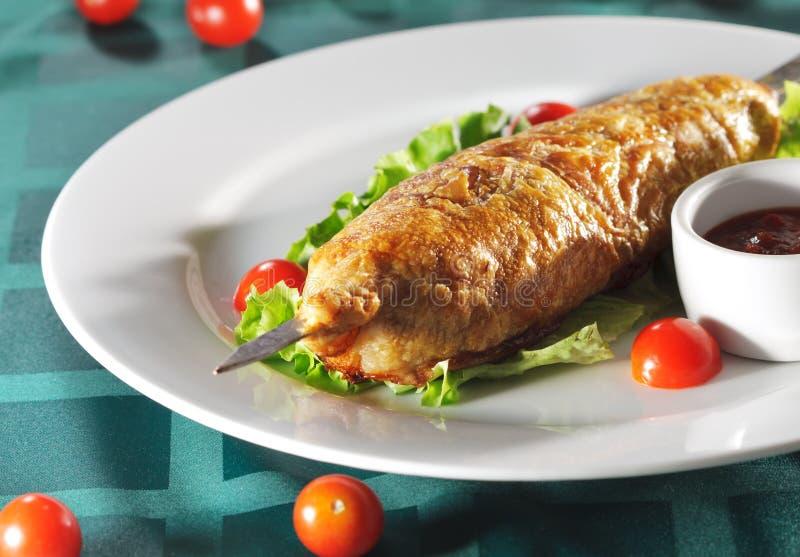 Paraboloïdes chauds de viande - viande en pâtisserie image stock