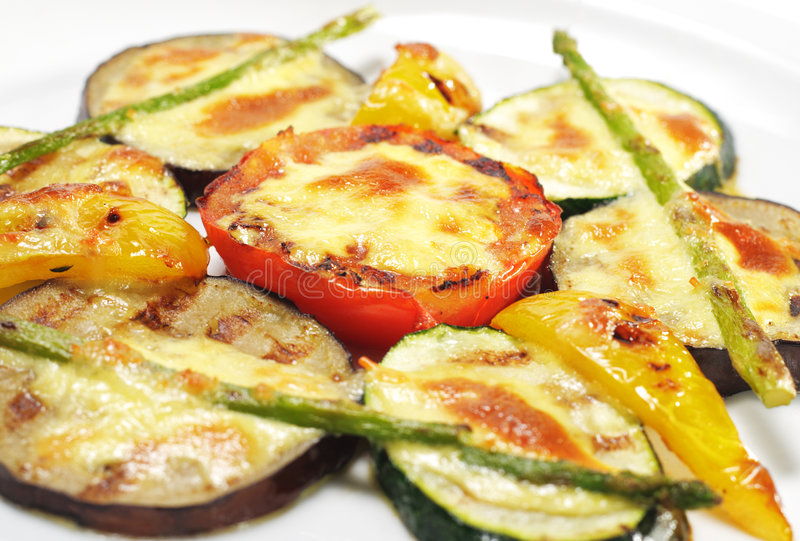 Paraboloïdes latéraux - légumes grillés photos libres de droits