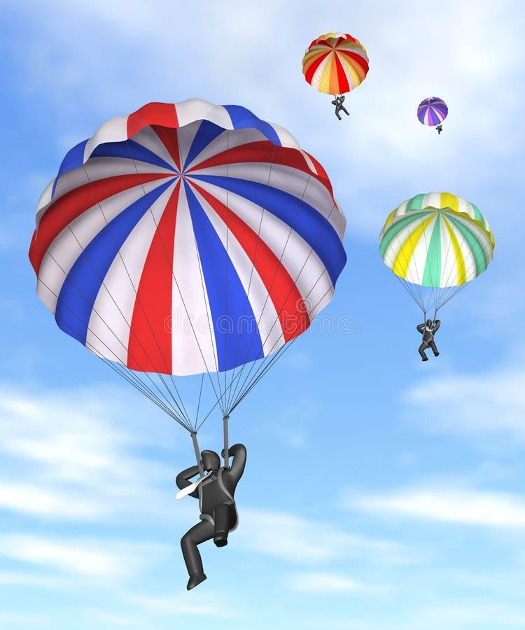 Paracaídas corporativo stock de ilustración