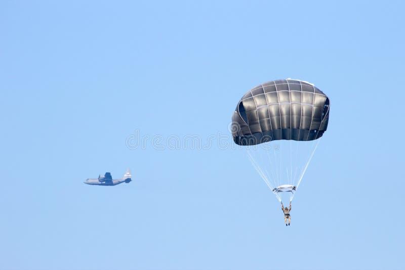 Paracaídas Hércules fotografía de archivo
