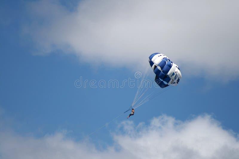 Paracaídas, Nueva Zelanda imagen de archivo