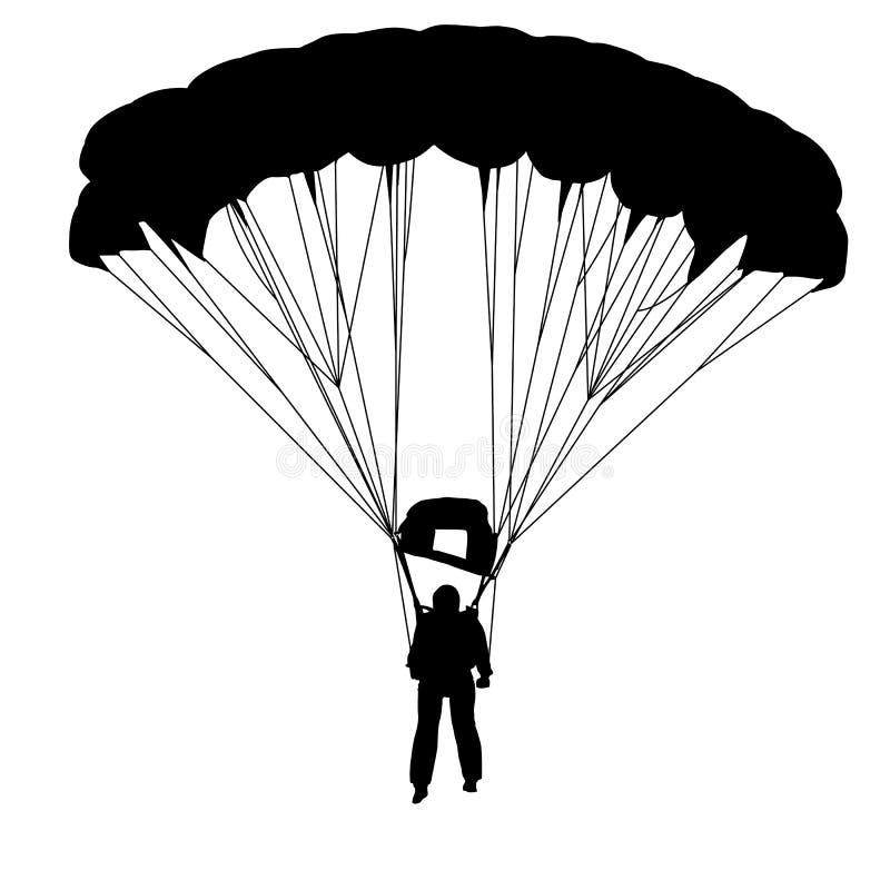 Paracadutista illustrazione di stock