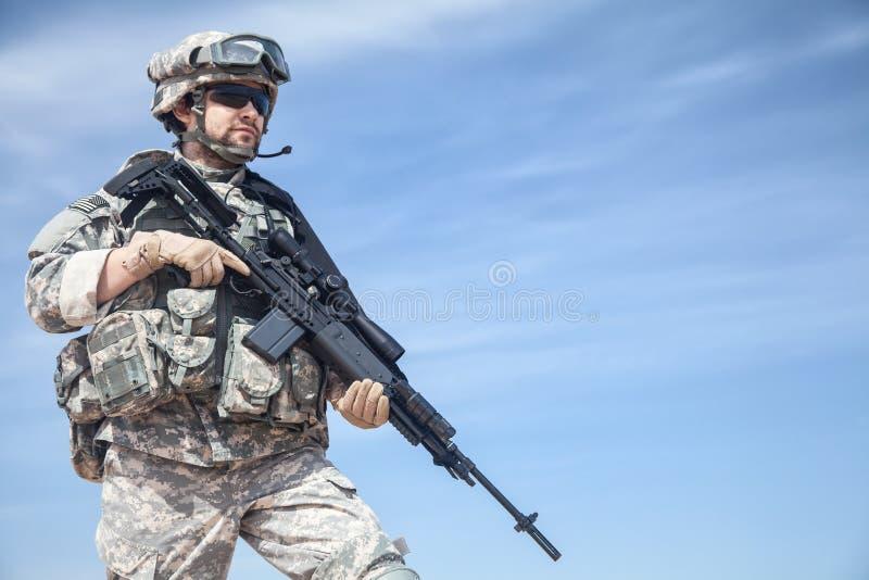 Paracadutista degli Stati Uniti fotografie stock