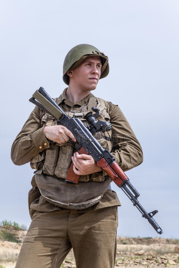 Paracadutista sovietico in Afghanistan immagine stock