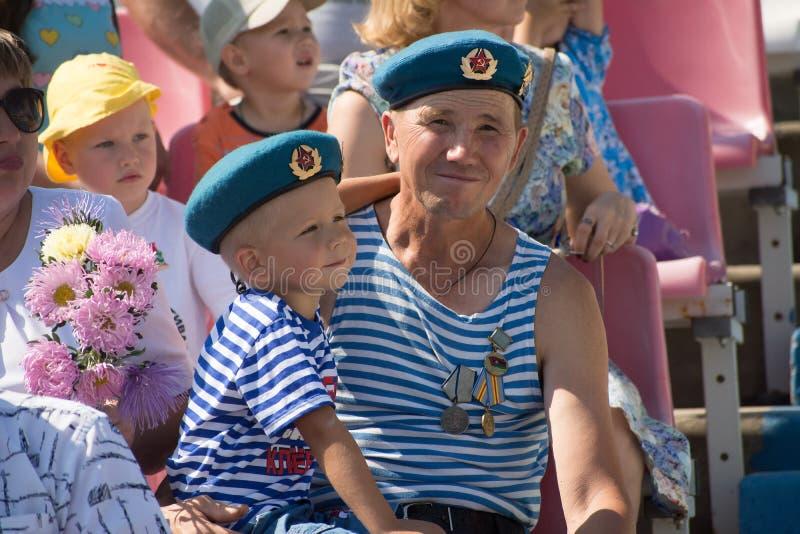Paracaidista aerotransportado del veterano de Rusia imagen de archivo libre de regalías