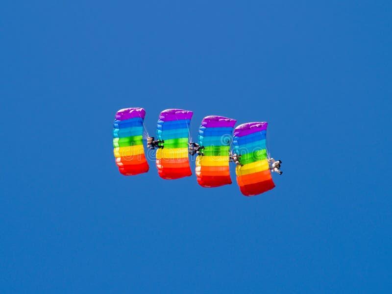Paracaidista cuatro foto de archivo