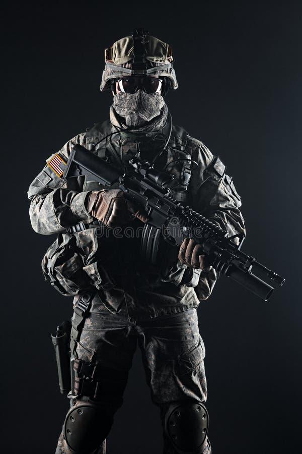 Paracaidista de Estados Unidos foto de archivo libre de regalías
