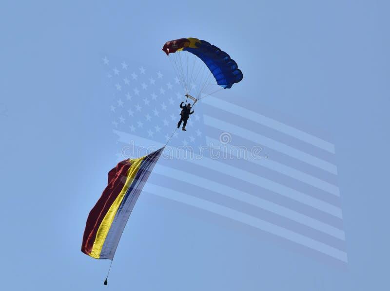 Paracaidista rumano fotografía de archivo libre de regalías