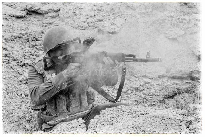 Paracaidista soviético en Afganistán imágenes de archivo libres de regalías