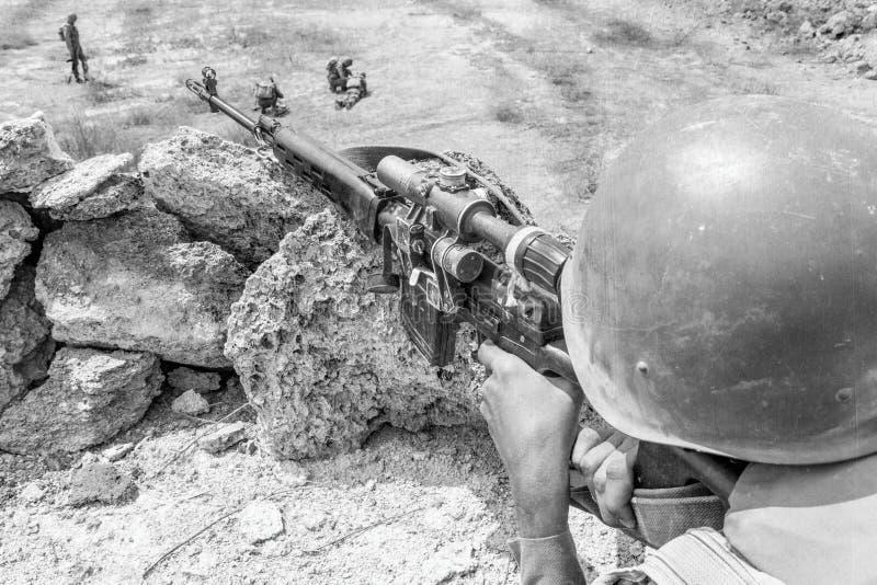 Paracaidista soviético en Afganistán foto de archivo libre de regalías