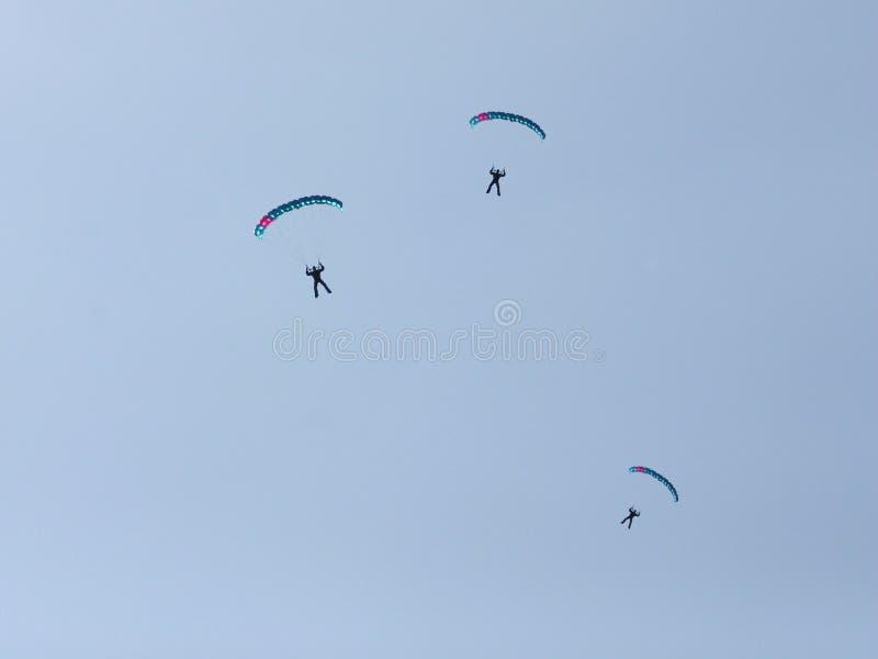 Paracaidistas Fotos de archivo