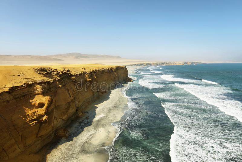 Paracas national park, Peru royalty free stock images