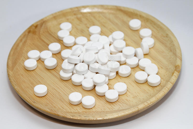 Paracetamol für gesunde Ergänzungen lizenzfreie stockfotos