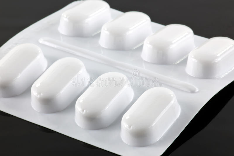 Paracetamoltabletten lizenzfreie stockfotos