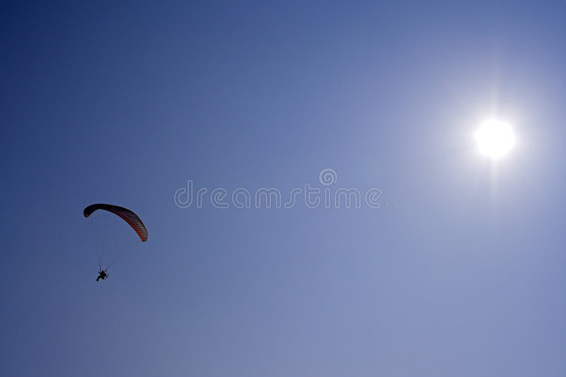 Parachutage photo stock