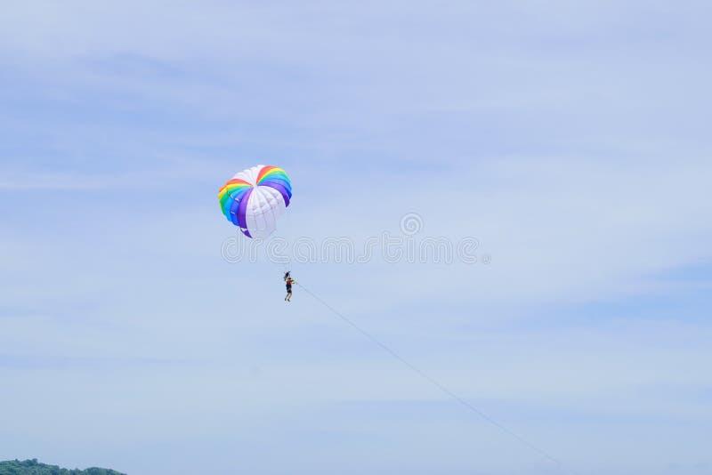 parachute royaltyfri fotografi