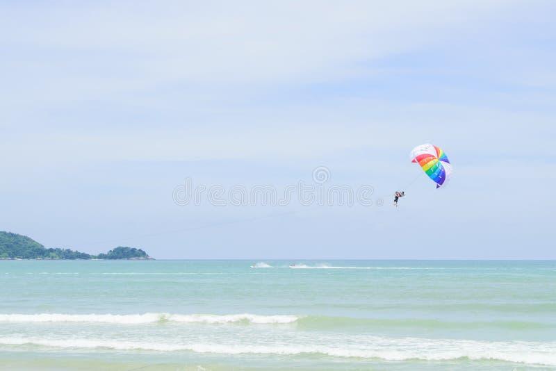 parachute arkivfoto