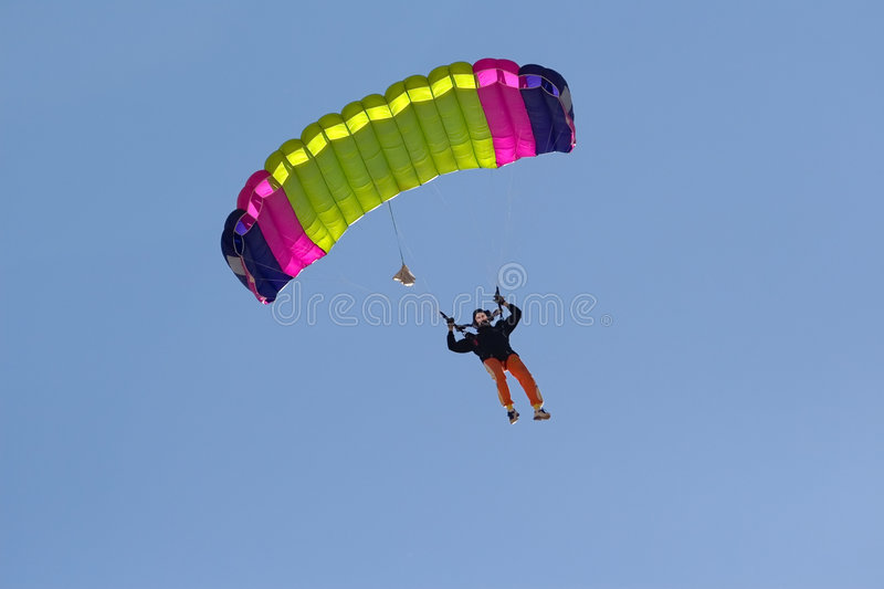 Download Parachute stock image. Image of airborne, attraction, drop - 1369665