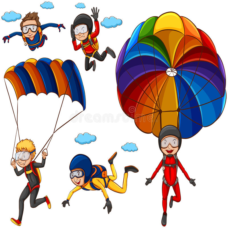 parachute illustration libre de droits