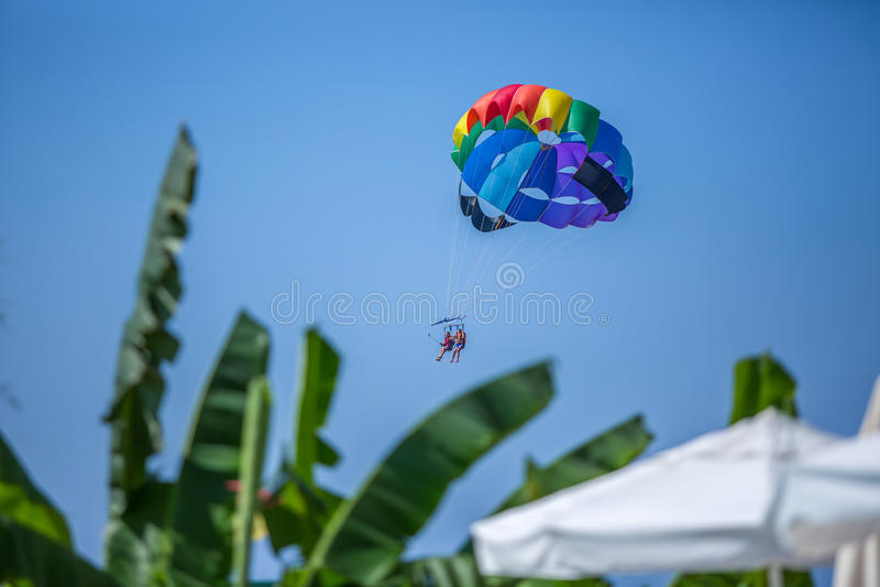 parachute photo stock