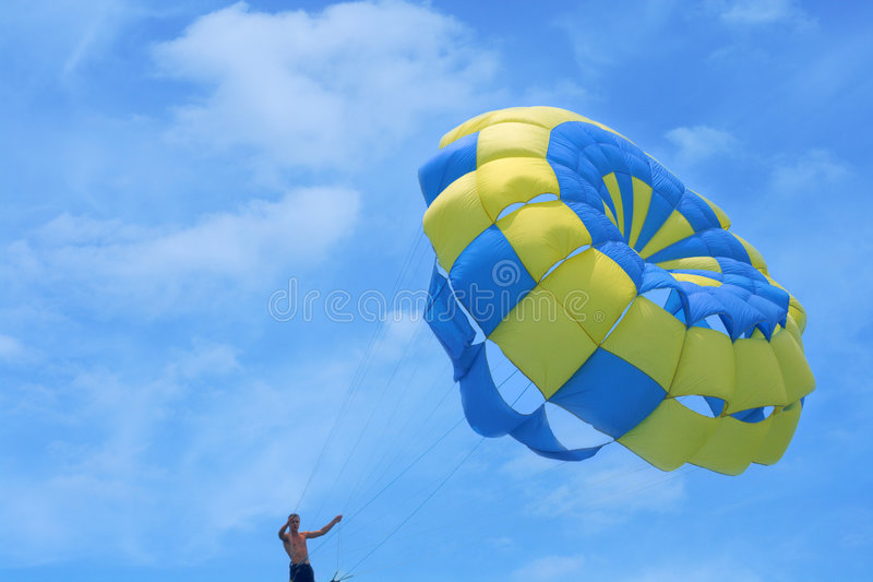 Download Parachute against the sky stock photo. Image of action - 5698628