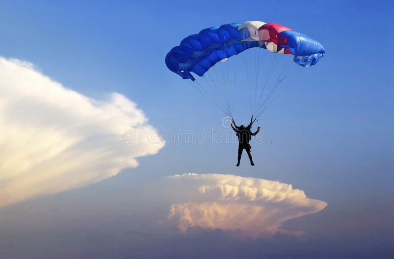 Parachute altocumulus. royalty free stock images