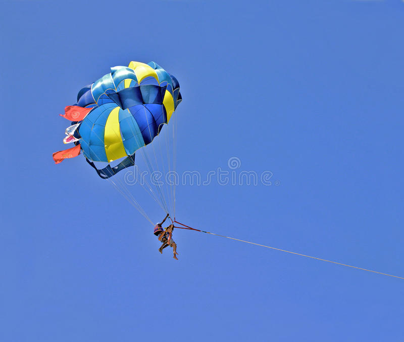 Parachute In Blue Stock Image