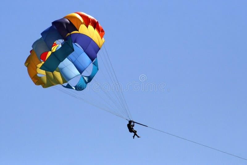 Parachute coloré images stock