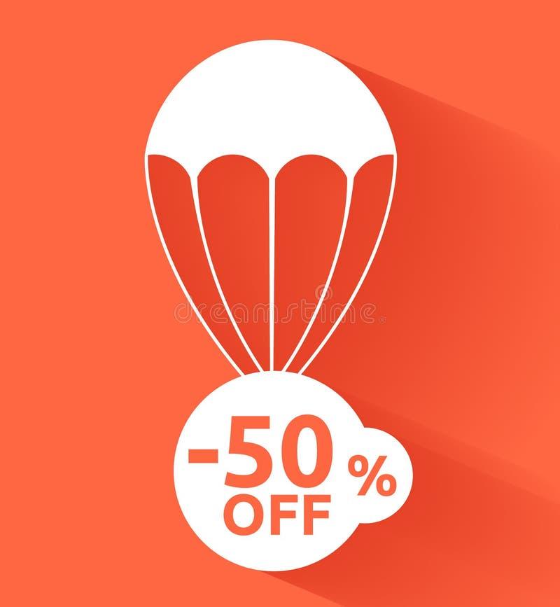 Parachute de remise illustration stock