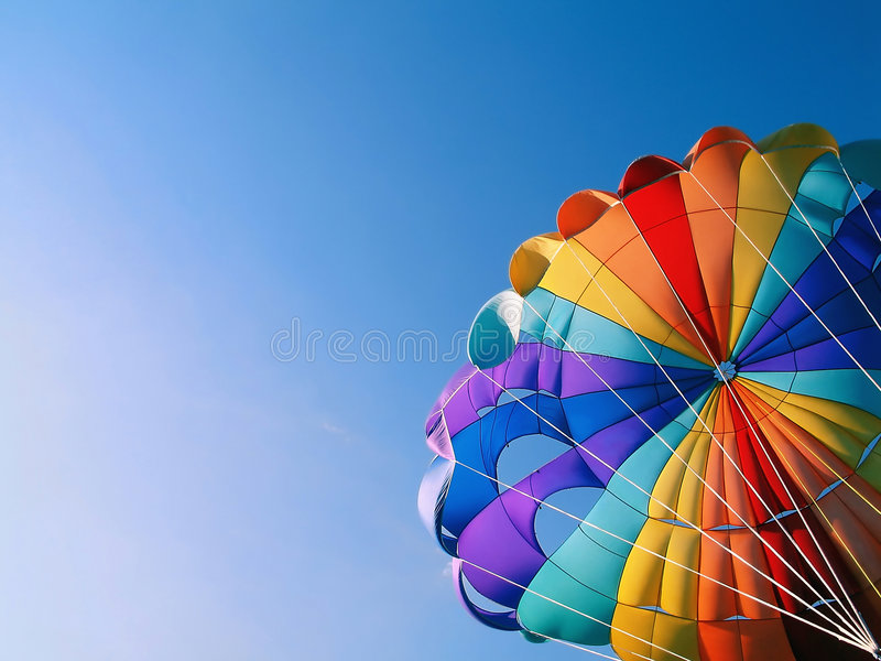 Download Parachute detail stock photo. Image of sail, colorful - 5114566