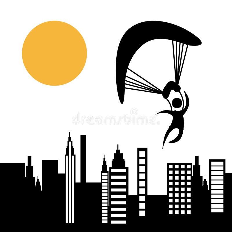 Parachute fly. Design, vector illustration eps10 graphic stock illustration