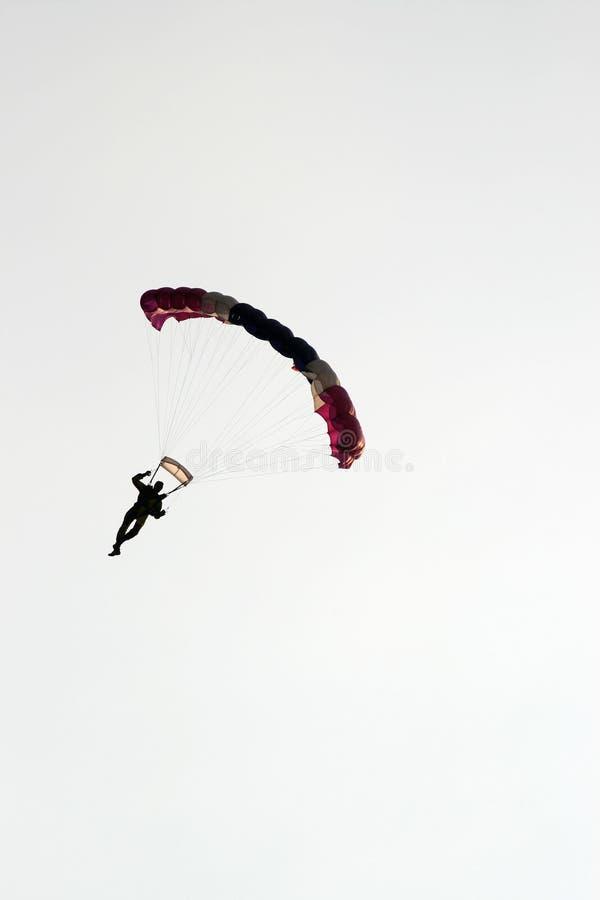 Parachute jump stock images