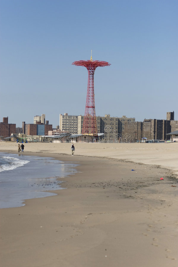 Download Parachute Jump On Coney Island Stock Image - Image: 6407409