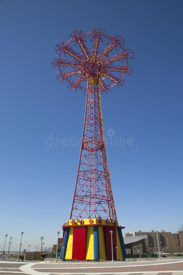 Download Parachute Jump Tower - Famous Coney Island Landmark In Brooklyn Editorial Stock Image - Image of infrastructure, blue: 39511804