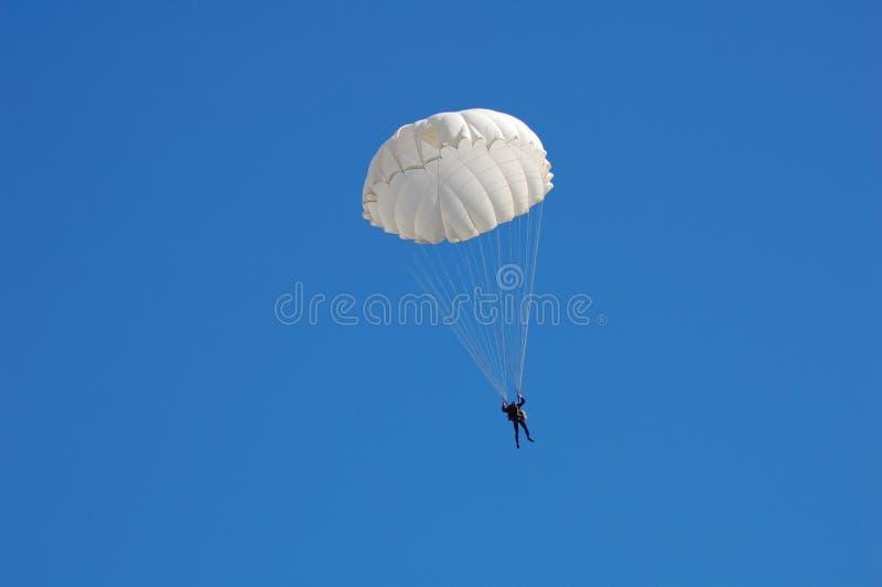 Parachute jumper royalty free stock photo