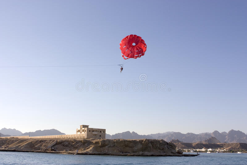 Parachute jumper stock photography