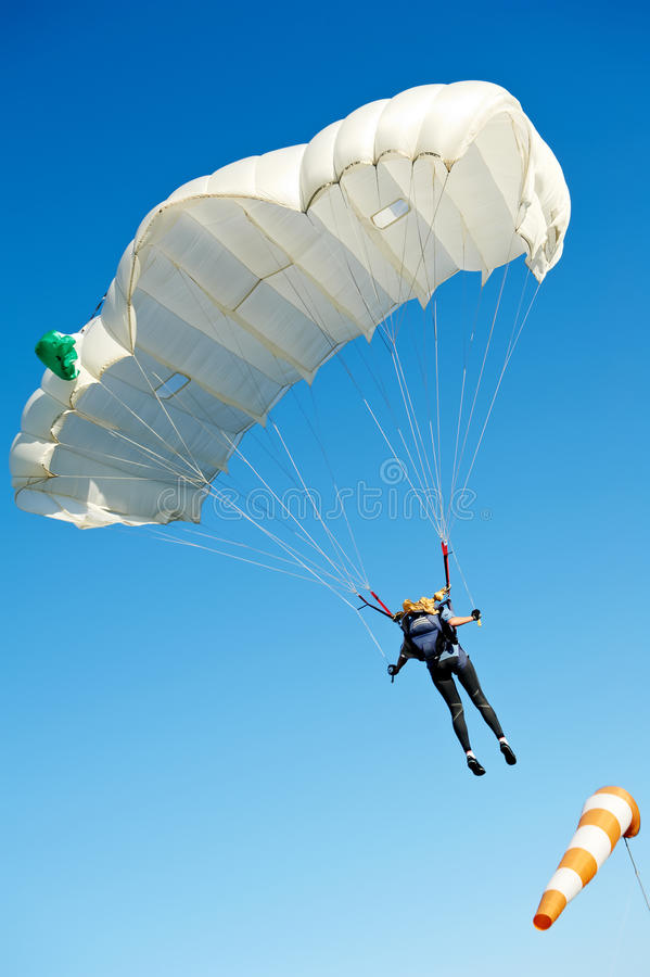 Parachute jumper royalty free stock photography