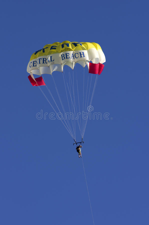 Parachute in the sky royalty free stock photography