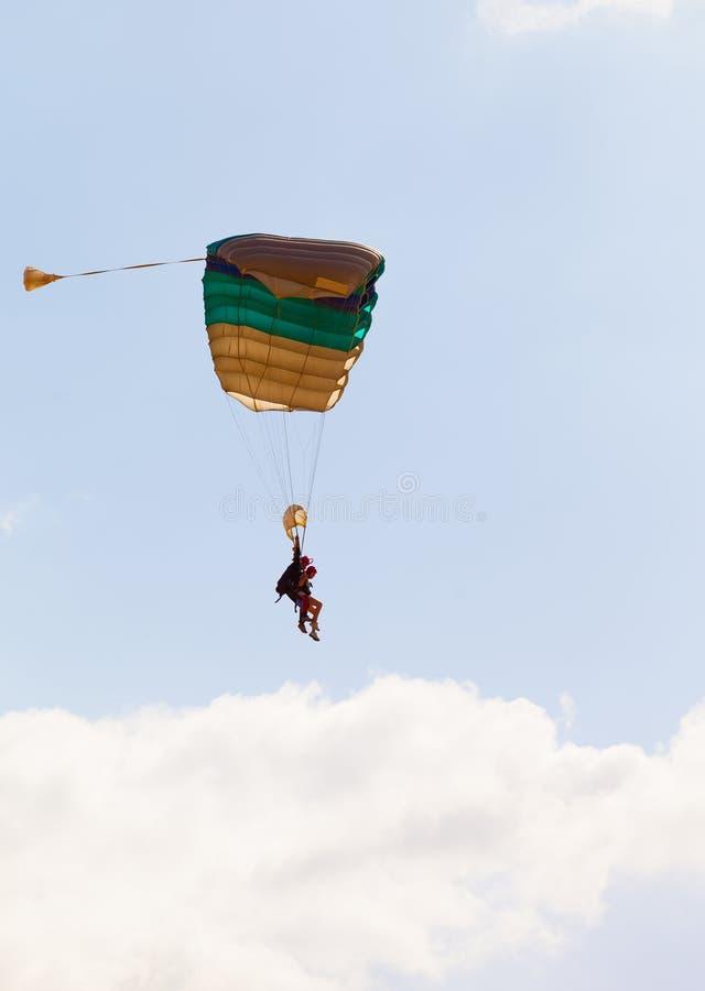 Parachuter stockbilder