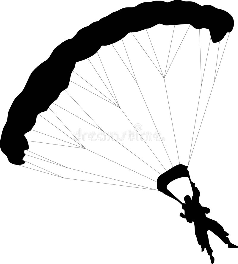 Parachuter stock illustratie