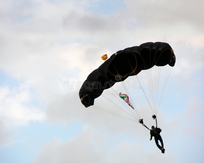 Download Parachuter stock photo. Image of cloudy, parachute, clouds - 472012