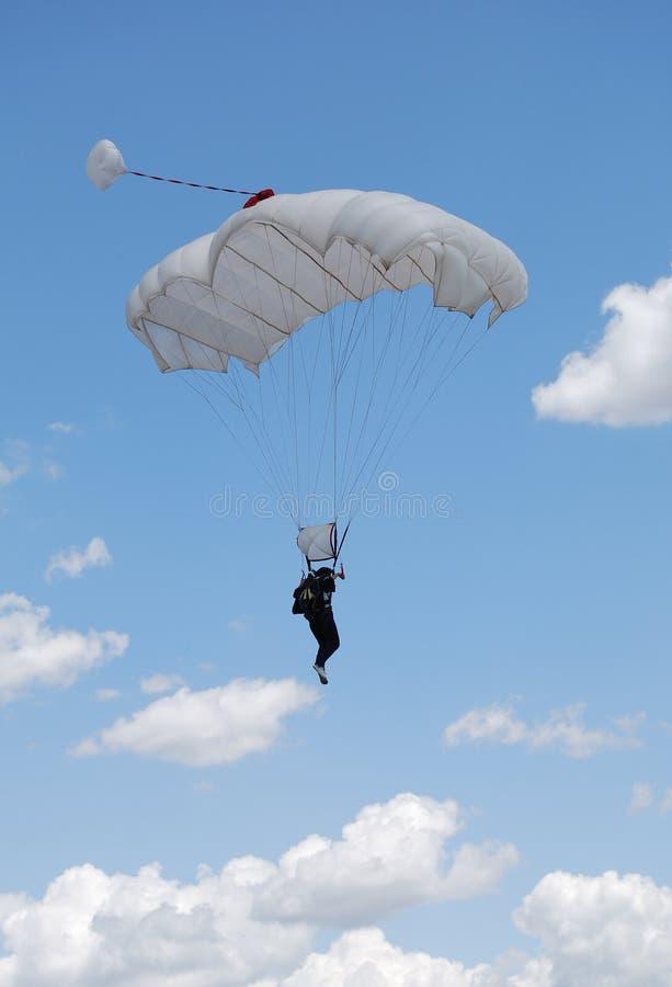 Parachuter image stock