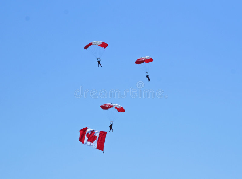 parachuters στοκ φωτογραφία με δικαίωμα ελεύθερης χρήσης