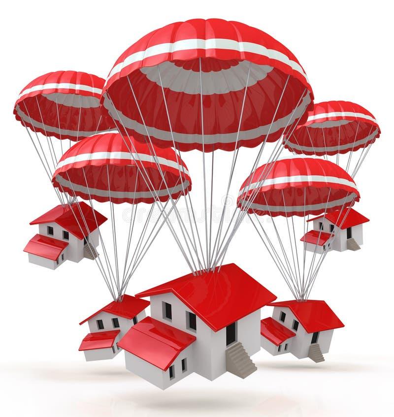 Download Parachutes estate stock illustration. Image of mansion - 31872794